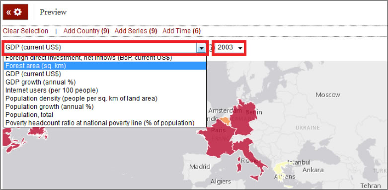 You Can Change The Indicator And Year By Selecting From The Two Dropdown Menus At The Top Of The Map